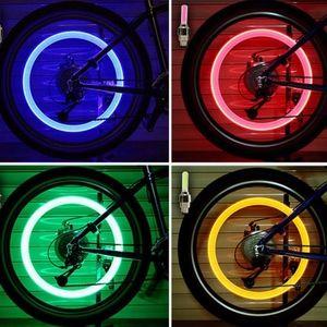 2 Piece LED Bicycle Light Tire Valve Cap